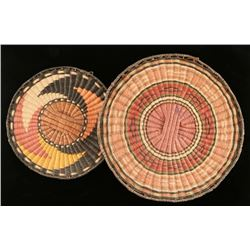 Collection of 2 Hopi Wicker Trays