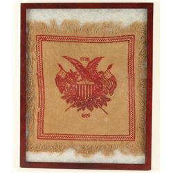 Early Americana Hand Sewn Tapestry