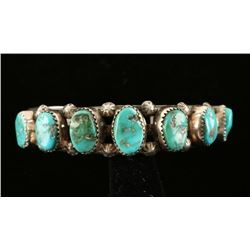 Navajo 7 Stone Turquoise Cuff