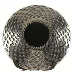 Black Mata Ortiz Textured Pottery Bowl