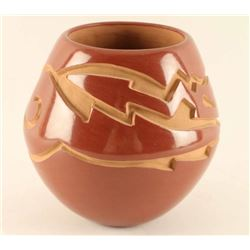 Pueblo Incised Carved Pot