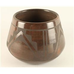 San Ildefonso Pueblo Brown Pottery