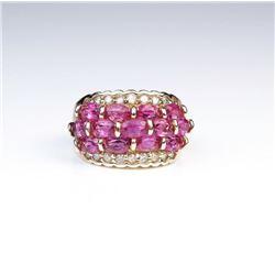 Stunning Pink Tourmaline & Diamond Ring
