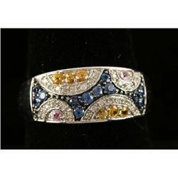 Multi Colored Diamond Ring