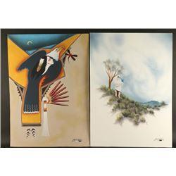 2 Original Watercolors on Board