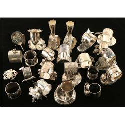 Collection of 25 Fancy Napkin Rings