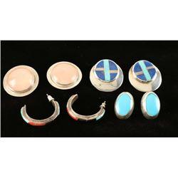Four Pairs Earrings