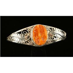 Sterling Silver Spiny Oyster Cuff