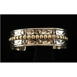 Native American Silver & Gold Child's Cuff