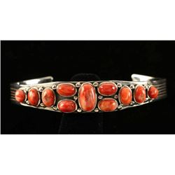 Native American Spiny Oyster & Sterling Bracelet