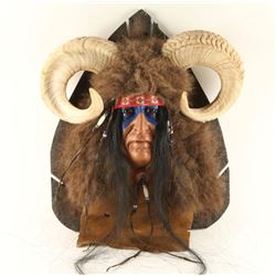 Sheep Hunter Spirit Mask by Black Wolf