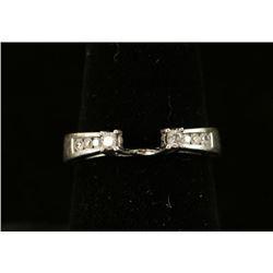 Diamond & White Gold Ring Guard