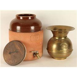 Arrowhead & Purita Water Decanter & Spittoon