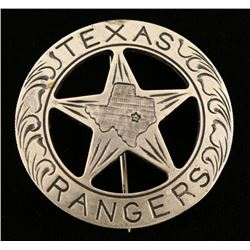 Old West Texas Rangers Law Badge