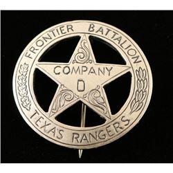 Old West Frontier Texas Rangers Badge