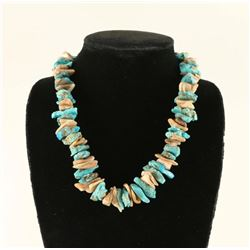 Turquoise & Abalone Native American Necklace