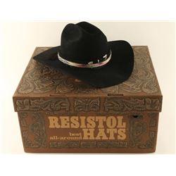 Resistol Black Cowboy Hat