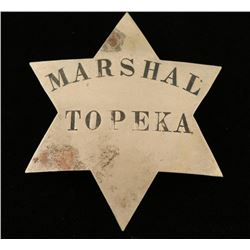 Old West Marshal Topeka Kansas Law Badge