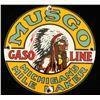 Vintage Musgo Gasoline Porcelain Advertising Sign