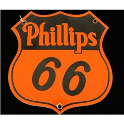 Antique Phillips 66 Porcelain Gasoline Sign