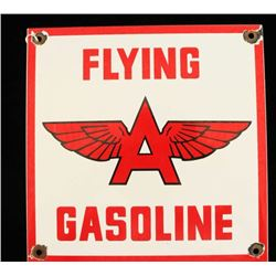 Vintage Porcelain Flying A Gasoline Pump Sign