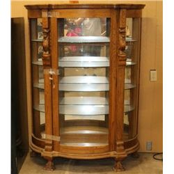 Oak Bowfront Cabinet