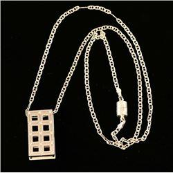 Latticework Pendant on Sterling Chain
