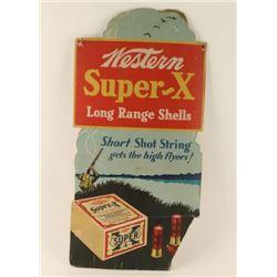 Vintage Western Super-X Advertiser