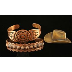 Lot of 2 Copper Bracelets