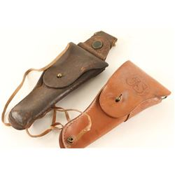 Lot of 2 US Embossed .45 Holsters