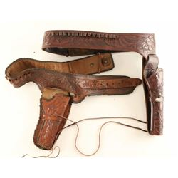 Lot of 2 Old West SA Pistol Holders & Belts