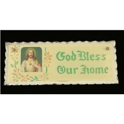 "Vintage ""God Bless Our Home"" Picture"