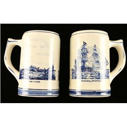 (2) Dutch Blue and White Mugs