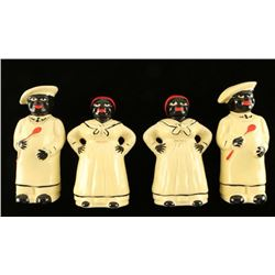 Collection of 4 Black Americana Salt & Peppers