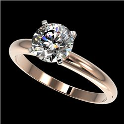1.50 CTW Certified H-SI/I Quality Diamond Solitaire Engagement Ring 10K Rose Gold - REF-316F8M - 329