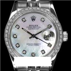 Rolex Ladies Stainless Steel, Diamond Dial & Diamond Bezel, Saph Crystal - REF-398Z2Y