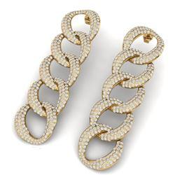 5 CTW Certified VS/SI Diamond Earrings 18K Yellow Gold - REF-340F9M - 40075
