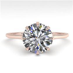 2.03 CTW Certified VS/SI Diamond Engagement Ring 18K Rose Gold - REF-947R4K - 35768