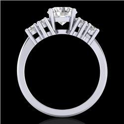 2.1 CTW VS/SI Diamond Solitaire Ring 18K White Gold - REF-465F2M - 36941