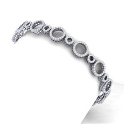 4 CTW Certified SI/I Diamond Halo Bracelet 18K White Gold - REF-271Y4N - 40175
