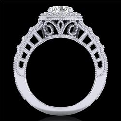 1.53 CTW VS/SI Diamond Art Deco Ring 18K White Gold - REF-454Y5N - 36959