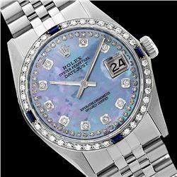 Rolex Ladies Stainless Steel, Diam Dial & Diam/Sapphire Bezel, Saph Crystal - REF-363Y3X