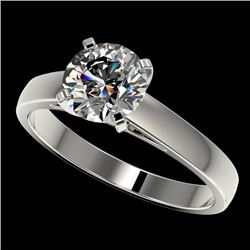 1.50 CTW Certified H-SI/I Quality Diamond Solitaire Engagement Ring 10K White Gold - REF-410X9T - 33