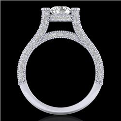 2 CTW VS/SI Diamond Micro Pave Ring 18K White Gold - REF-290F9M - 36947