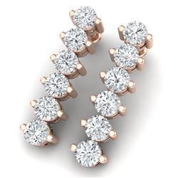 3 CTW Certified VS/SI Diamond Earrings 18K Rose Gold - REF-200K5R - 40020