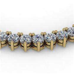 22 CTW Solitaire VS/SI Diamond Necklace 18K Yellow Gold - REF-2004R5K - 36112