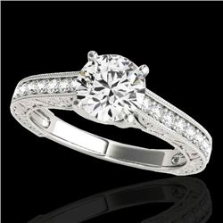 1.82 CTW H-SI/I Certified Diamond Solitaire Ring 10K White Gold - REF-339N3Y - 34952