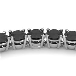 40 CTW Certified Black VS Diamond Necklace 18K White Gold - REF-1400Y2N - 32487