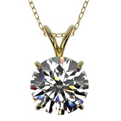 2 CTW Certified G-Si Quality Diamond Bridal Necklace 10K Yellow Gold - REF-561F5M - 33232