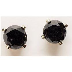 $400 14K Black Dia Earrings